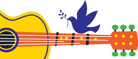 Peace Dove Guitar